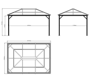 Aluminium Pavillon Gazebo Sojag