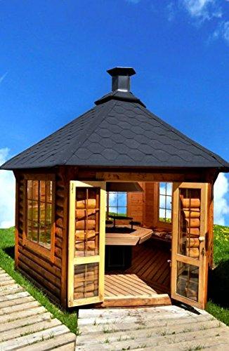 JUNIT Garten-Pavillon 14,9m² mit Grill